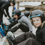 Childrens snowboard lessons in Dorset at Snowtrax