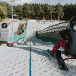 Childrens ski bob sessions at Snowtrax in Christchurch Dorset