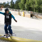 Kids Freestyle Skiing at Snowtrax in Dorset